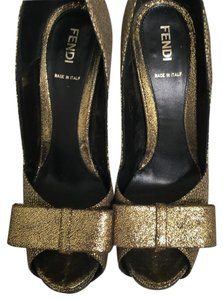 Fendi Black and gold Platforms