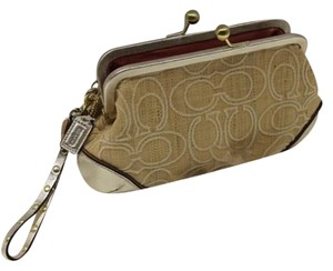 Coach Wrislet Stich C Straw beige Clutch