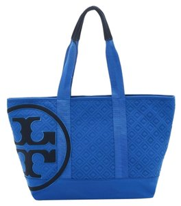 Tory Burch Tote in Royal Blue/black