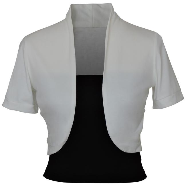 White Short Sleeve Bolero Shrug W/ Tube Top. 2 Separate Pieces Activewear Outerwear Size 12 (L, 32, 33) Image 0