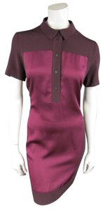 Victoria Beckham Panel Color Block Shirt Polo Fall Dress