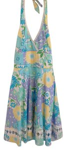 Lilly Pulitzer short dress Floral: Blues, Lavender, Greens, yellow white Machine Washable Cotton on Tradesy