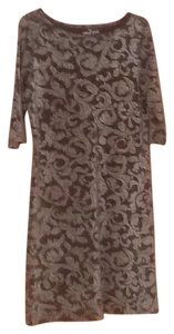 Carole Little short dress Brown and silver on Tradesy
