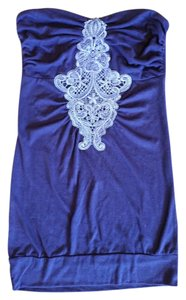 C. Luce Tube Strapless Boho Lace Top Purple