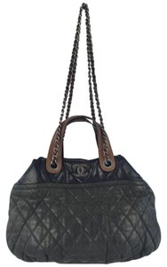 Chanel Satchel in Charcoal and Black