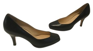 Cole Haan All Leather Square Toes Black Pumps
