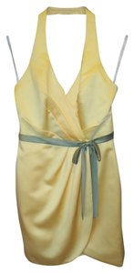 Alfred Angelo Marked Down - On Sale! NWT Yellow Size 12 Cocktail Down-onsale Dress