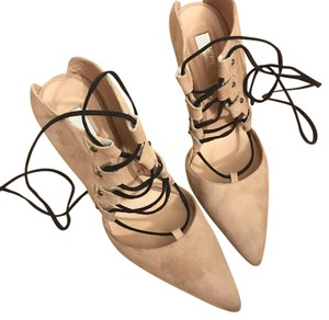 Topshop Lace-up Beige Pumps
