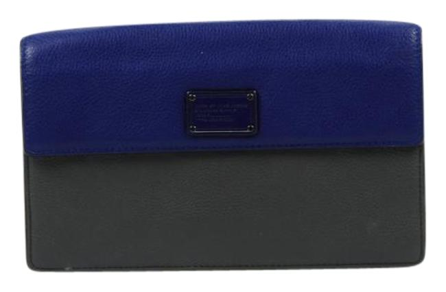 Item - Two Tone M184-49 B48 Blue/Gray Leather Clutch