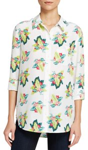 Equipment Tropical Floral Silk Print Shirt Top Multi