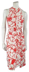 Nina Ricci short dress White Hibiscus Floral Natural on Tradesy