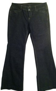 White House | Black Market Size 6s Made In China Trouser/Wide Leg Jeans-Dark Rinse