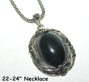 Black Diamante Sparkling Necklace Free Shipping