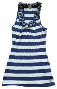 Ella Moss Top Blue striped