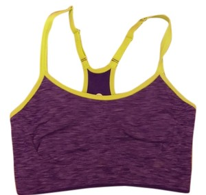 67fb37717a248 Old Navy Purple with Neon Green Trim Activewear Sports Bra