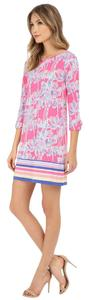 Lilly Pulitzer short dress Flamingo Pink Nice Stems on Tradesy