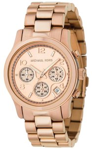 Michael Kors Michael Kors Runway MK5128 Rose Gold Tone Stainless Chronograph Watch