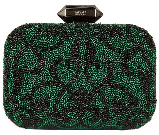Item - Black & Green Beaded Clutch