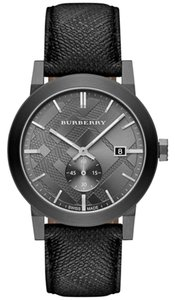 Burberry Burberry the City BU9003 Beat Check Gray Leather Strap Watch