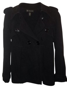 INC International Concepts Cozy Stretch Military Buttons Pea Coat