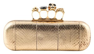 Alexander McQueen Metallic Gold Clutch