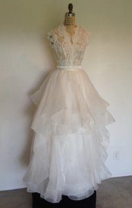 Lace Sheer Sexy 2piece Founce Skirt Wedding Dress