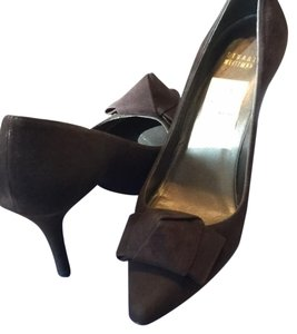 Stuart Weitzman Suede Pump Brown Pumps