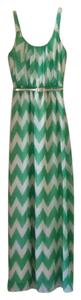 Green and white striped Maxi Dress by Eliza J