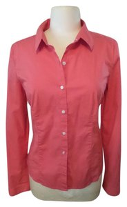Halogen Button Down Shirt Coral