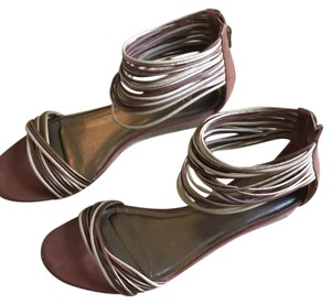 ALDO Brown and Tan Sandals