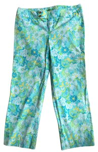 Lilly Pulitzer Preppy Palm Beach Capris Blue/white/yellow/green