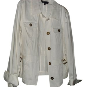 Jones New York Cotton Lycra Cream Jacket