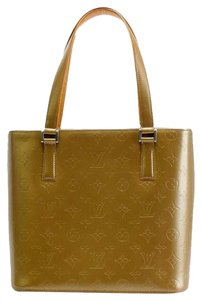 Louis Vuitton Stockton Gold Monogram Tote in Gold Taupe