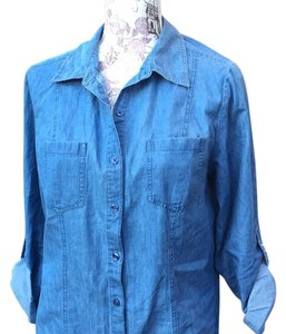 Style & Co Button Down Shirt Denim