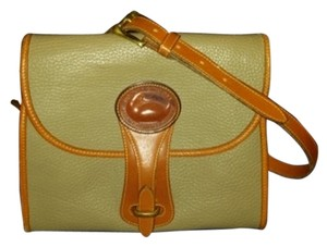 Dooney & Bourke Satchel in Taupe, Tan Trim