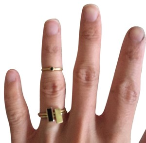 Madewell Madewell bar stacking rings and 1 midi ring
