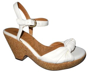 Clarks Wedge Platform Leather white Sandals