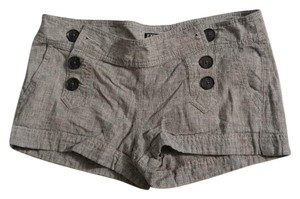 Express Mini/Short Shorts Gray Twill