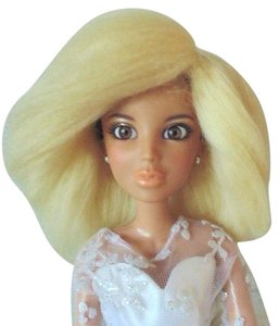 5/6 BJD MSD Liv Doll Wig Light Blonde Handmade