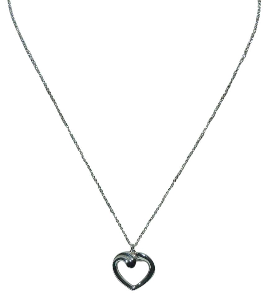 Tiffany co silver sterling paloma picasso tenderness heart tiffany co tiffany co sterling silver paloma picasso tenderness heart pendant necklace aloadofball Images