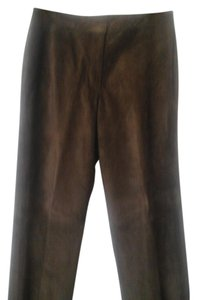 INC International Concepts Straight Pants Brown suede