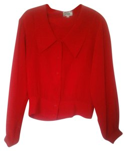Other Top Red Silk Blouse