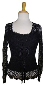 Betsey Johnson Crochet Camisole Cardigan