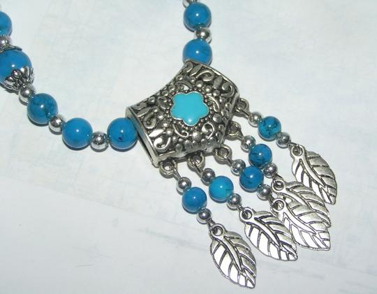 Turquoise Blue Bogo Free Beaded Free Shipping Necklace Image 1