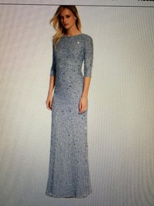 Adrianna Papell Silver Blue Adrianna Papell Dress