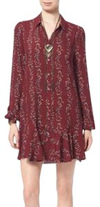 Free People short dress Cranberry on Tradesy