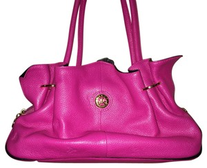 Misty Collection Leather Coach Satchel in Pink