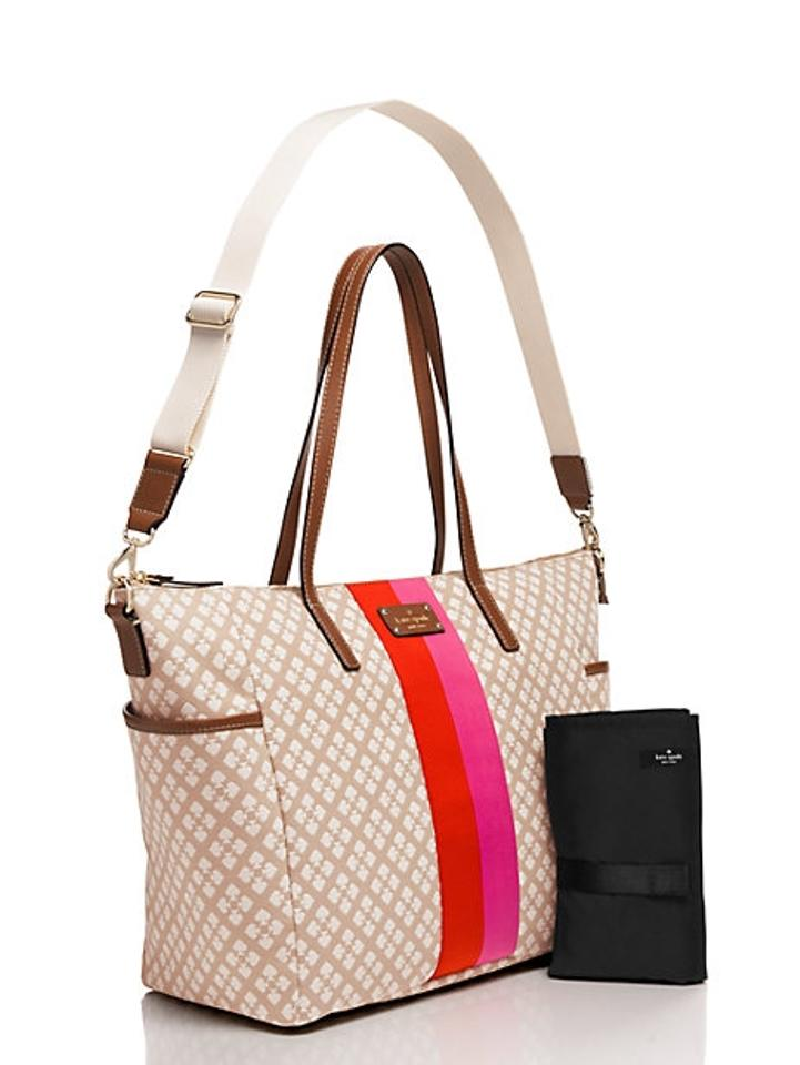 Kate Spade Stucco Cream Pink Red Diaper Bag 123456789