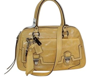 Coach Pushlock Sunflower Satchel in Yellow
