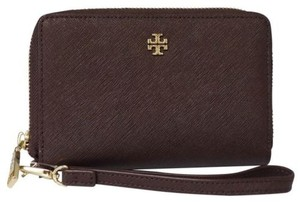 Tory Burch Tory Burch York Leather Multi-task Smartphone Wristlet, Brown
